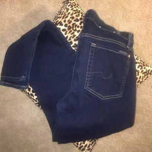 Women's NWOT 7FAM Skinny Jeans Waist 32